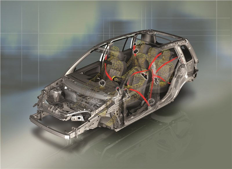 Ford Fusion 2002 схема ремней безопасности.